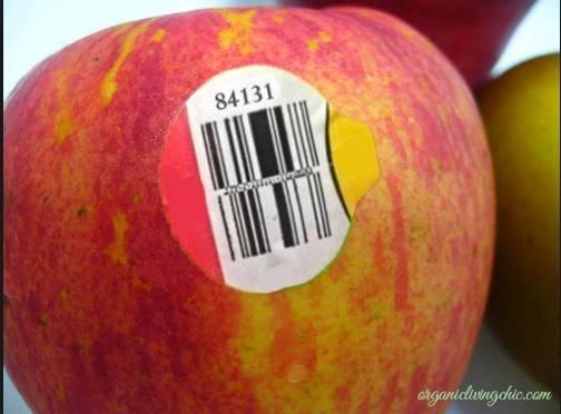 Trái cây có mã code bắt đầu bằng số 8 - Trái cây biến đổi gen.